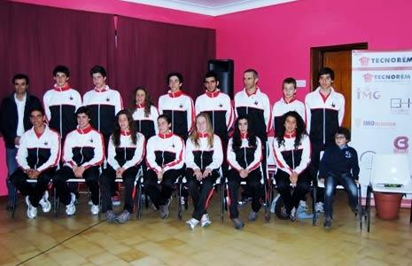 Equipa 2012 de triatlo do Águias de Alpiarça